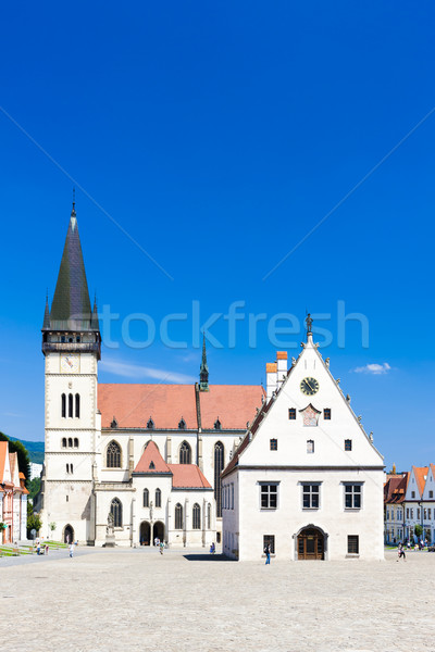 Town Hall Square, Bardejov, Slovakia Stock photo © phbcz