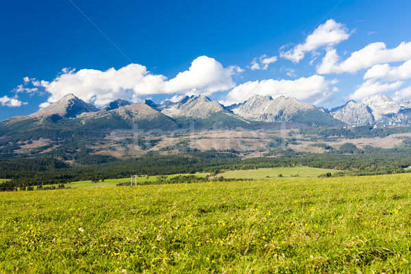 Western part of Vysoke Tatry (High Tatras), Slovakia Stock photo © phbcz