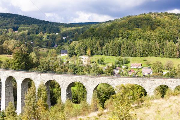 Chemin de fer vallée République tchèque bâtiment architecture Photo stock © phbcz