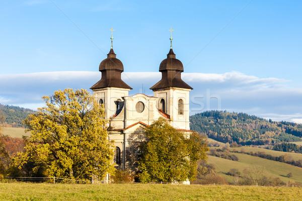 Templom szent Csehország építészet kint kívül Stock fotó © phbcz