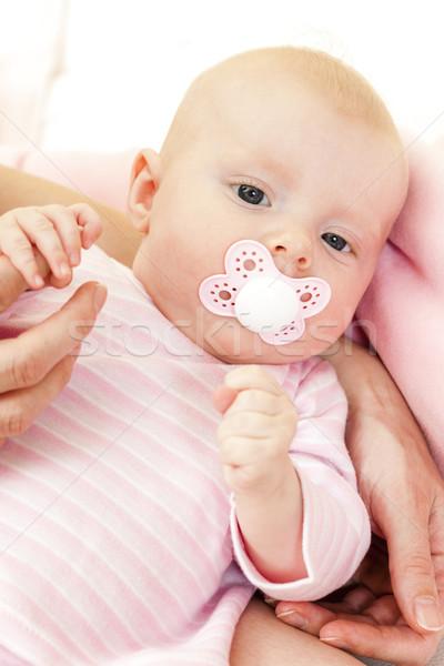 Retrato tres meses edad mujer Foto stock © phbcz