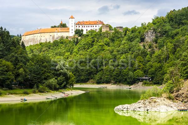 Kale Çek Cumhuriyeti su seyahat nehir mimari Stok fotoğraf © phbcz