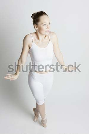 Stockfoto: Balletdanser · vrouwen · dans · ballet · opleiding · witte