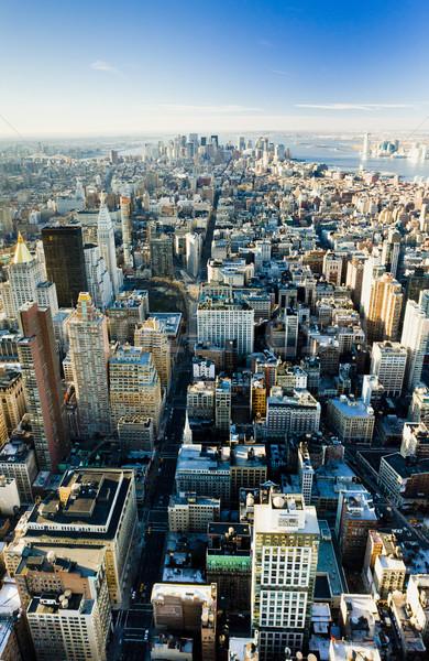 Foto stock: Vista · Manhattan · Empire · State · Building · Nueva · York · EUA · ciudad