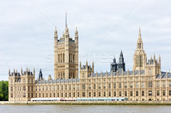 Häuser Parlament London Großbritannien Stadt Reise Stock foto © phbcz