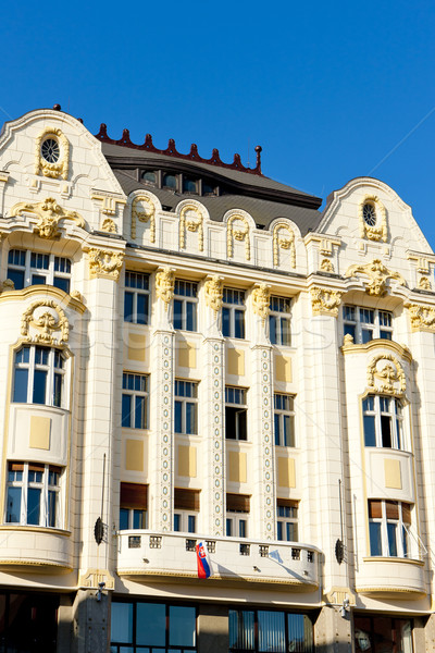 Palace of the Hungarian exchange bank, Main Square (Hlavne names Stock photo © phbcz