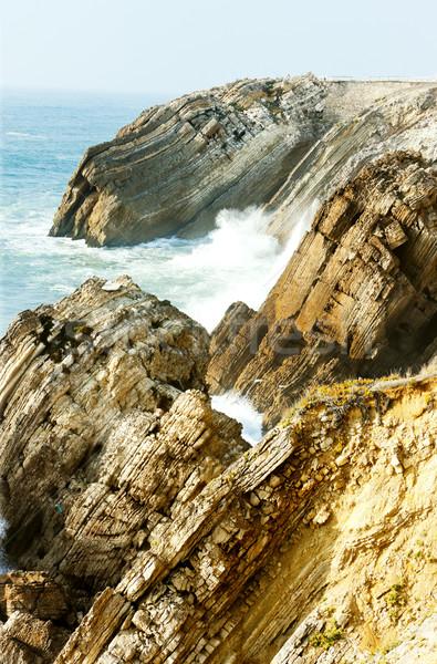 cliffs at Sao Pedro de Moel, Estremadura, Portugal Stock photo © phbcz