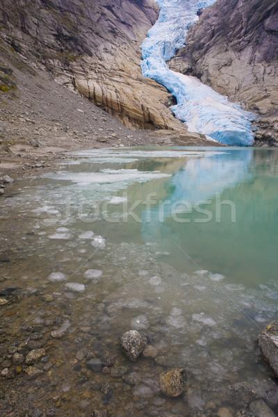 Melkevollbreen Glacier, Jostedalsbreen National Park, near Brigs Stock photo © phbcz