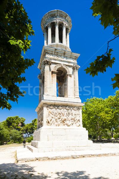 Roman Mausoleum, Glanum, Saint-Remy-de-Provence, Provence, Franc Stock photo © phbcz