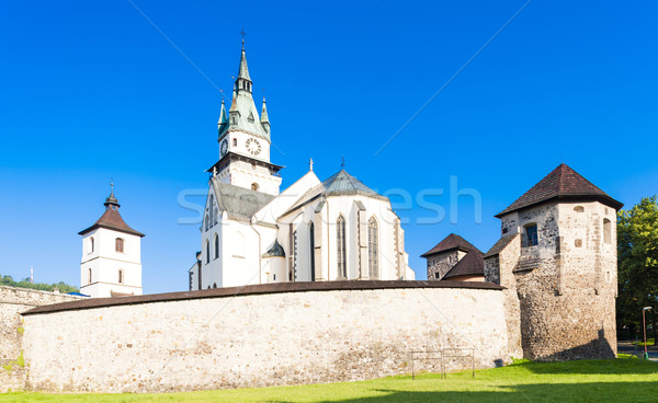 castle and church of Saint Catherine, Kremnica, Slovakia Stock photo © phbcz