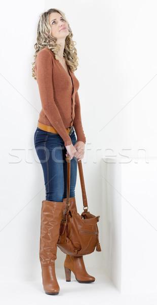 Permanent femme mode brun bottes Photo stock © phbcz