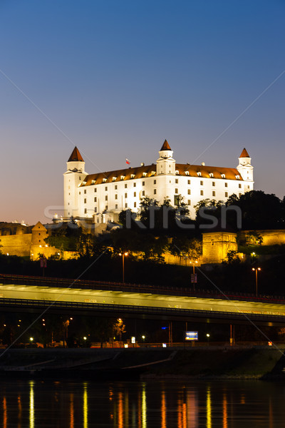 Bratislava Castle at night, Slovakia Stock photo © phbcz