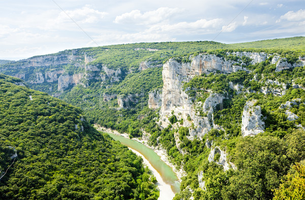 Stock photo: Ardeche Gorge, Rhone-Alpes, France