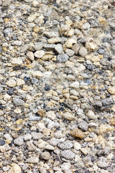 Kövek folyó Franciaország víz tárgy természetes Stock fotó © phbcz