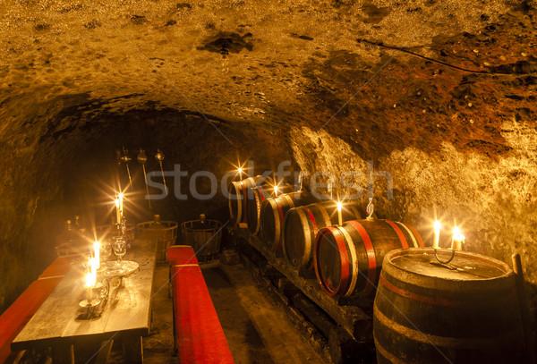 Borospince bor régió Szlovákia gyertya Európa Stock fotó © phbcz