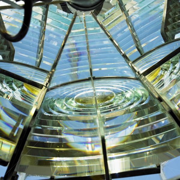 lighthouse''s interior, Fresnel lens, Cayo Pared Stock photo © phbcz