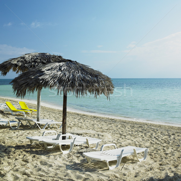 Foto stock: Praia · Cuba · água · mar · verão