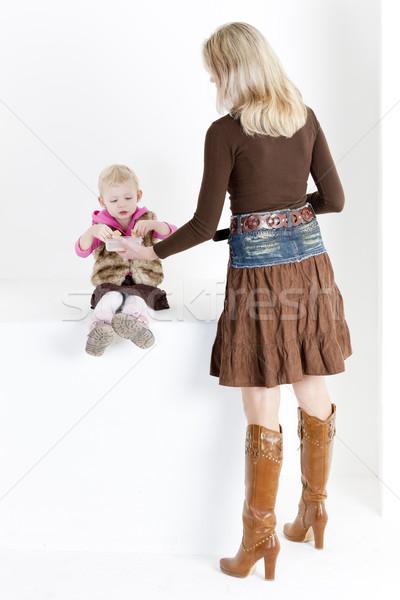 Stock fotó: Anya · etetés · kicsi · lánygyermek · nő · lány