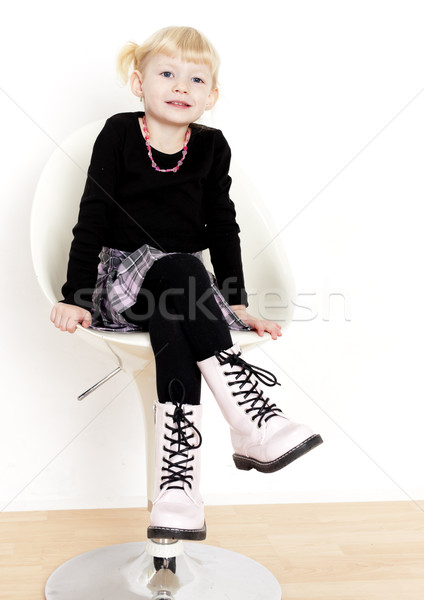 Сток-фото: девочку · сидят · Председатель · девушки · ребенка · Kid