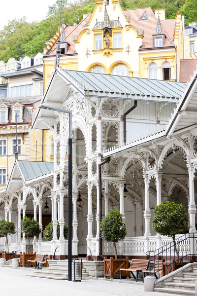 Market Colonnade, Karlovy Vary (Carlsbad), Czech Republic Stock photo © phbcz