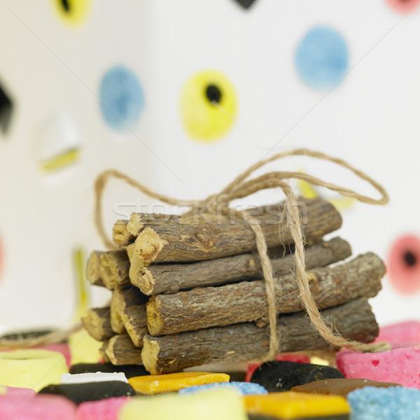 Foto stock: Alcaçuz · raiz · alimentação · doces · tempero · insalubre