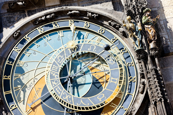 detail of horloge at Old Town Square, Prague, Czech Republic Stock photo © phbcz