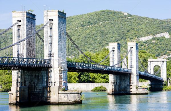 le pont du robinet - bridge over Rhone river, Donzere, Drome Dep Stock photo © phbcz