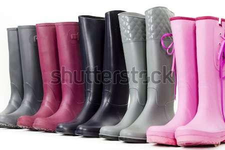 Ancora vita stivali di gomma scarpe rosa stile protezione Foto d'archivio © phbcz