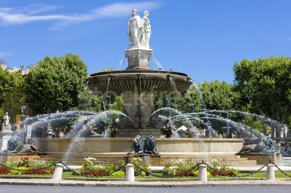 Szökőkút LA Franciaország víz szobor város Stock fotó © phbcz