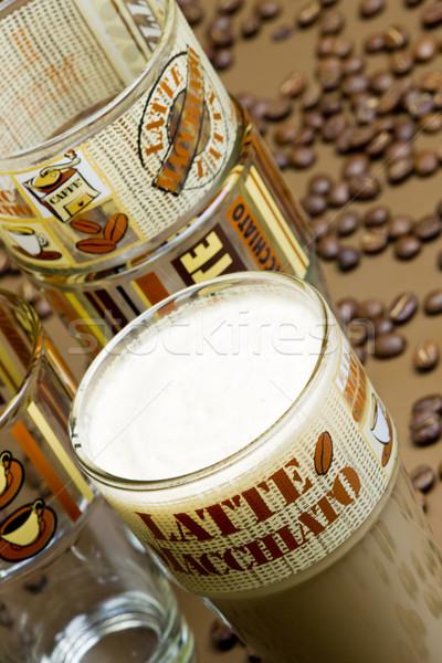 Zdjęcia stock: Kawy · martwa · natura · szkła · pić · Kafejka · pusty