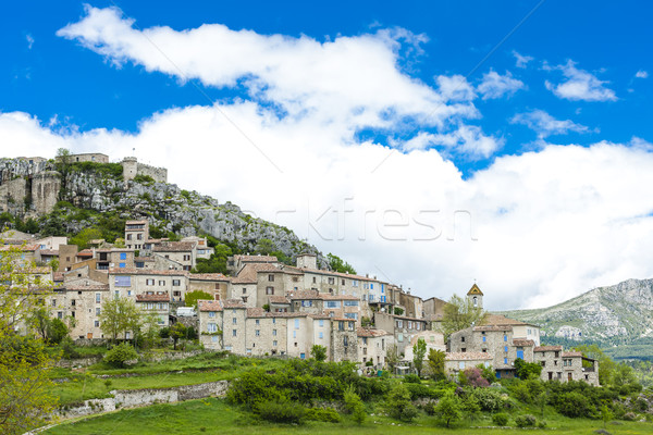 Trigance, Var Department, Provence, France Stock photo © phbcz