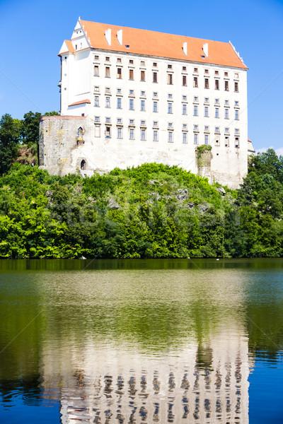 Palácio República Checa água edifício viajar arquitetura Foto stock © phbcz