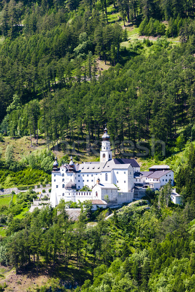 Monte Maria Abbey near Burgusio, Trentino-Alto Adige, Italy Stock photo © phbcz