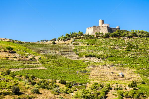 Saint Elme fortress, Languedoc-Roussillon, France Stock photo © phbcz