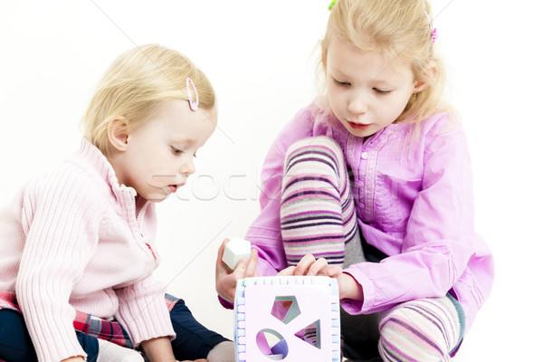 Játszik kettő kislányok lány gyermek jókedv Stock fotó © phbcz
