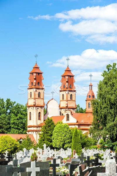 Polonia iglesia arquitectura Europa graves cementerio Foto stock © phbcz