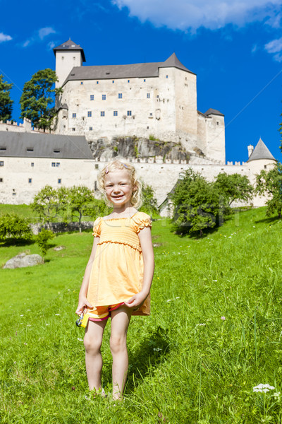 little girl near Rappottenstein Castle, Lower Austria, Austria Stock photo © phbcz