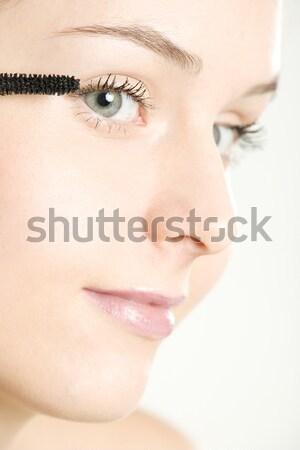 Portret make-up vrouw schoonheid gezichten jonge Stockfoto © phbcz
