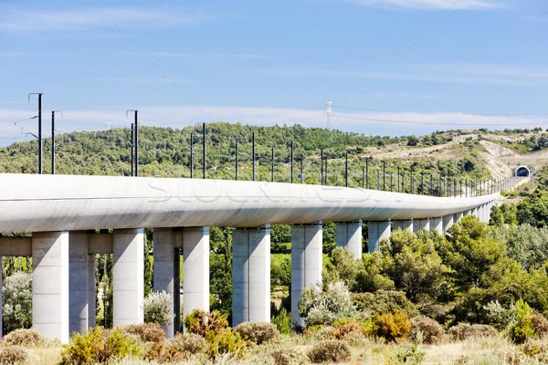 railway viaduct for TGV train near Vernegues, Provence, France Stock photo © phbcz