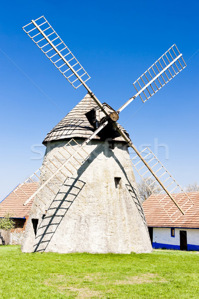 windmill, Kuzelov, Czech Republic Stock photo © phbcz