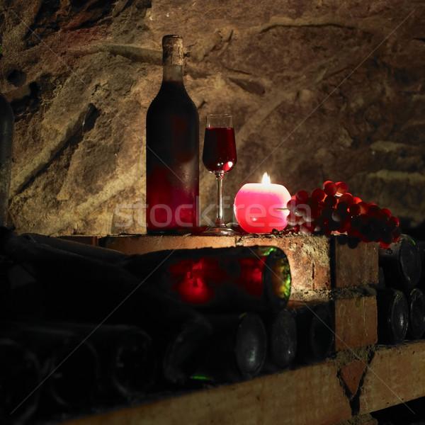 still life in wine cellar, Bily sklep rodiny Adamkovy, Chvalovic Stock photo © phbcz