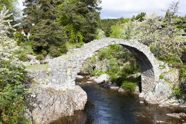 Oude brug hoogland Schotland reizen architectuur Stockfoto © phbcz