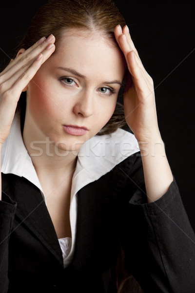 portrait of tired businesswoman Stock photo © phbcz