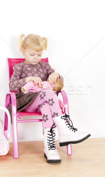 девочку играет кукла девушки ребенка Kid Сток-фото © phbcz