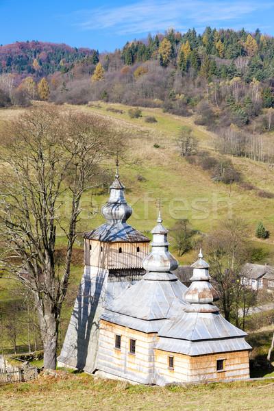 Houten kerk Polen architectuur Europa buitenshuis Stockfoto © phbcz