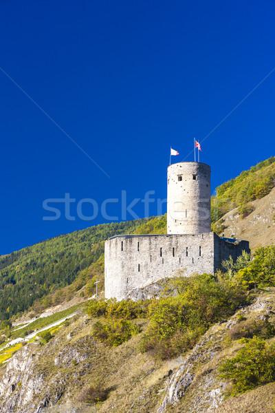 Batiaz Castle, Martigny, canton Valais, Switzerland Stock photo © phbcz