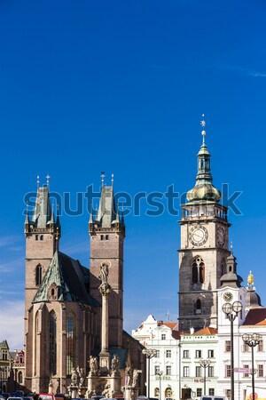 Large Square, Hradec Kralove, Czech Republic Stock photo © phbcz