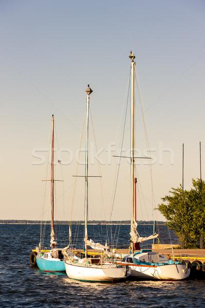 Puerto Polonia mar buque Europa yate Foto stock © phbcz