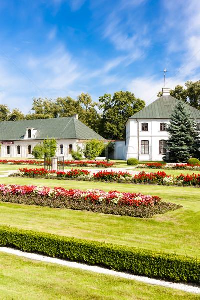 Pałac ogród Polska budynku architektury roślin Zdjęcia stock © phbcz