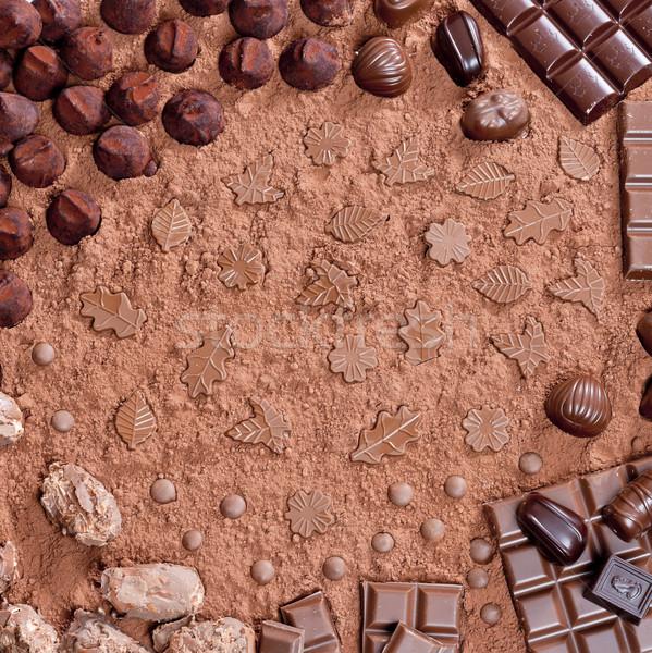 Stilleven chocolade voedsel snoep zoete binnenkant Stockfoto © phbcz